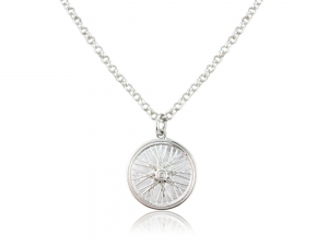 Mens cycling necklace